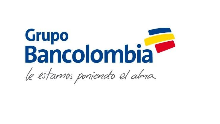 logo bancolombia raya roja