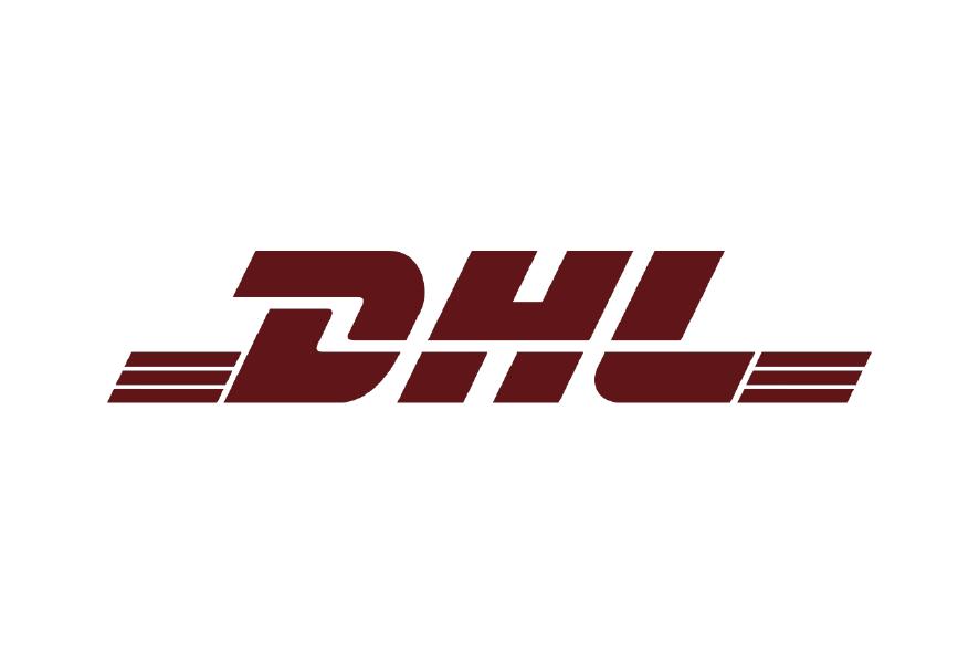 Logo marron compañia de envios DHL