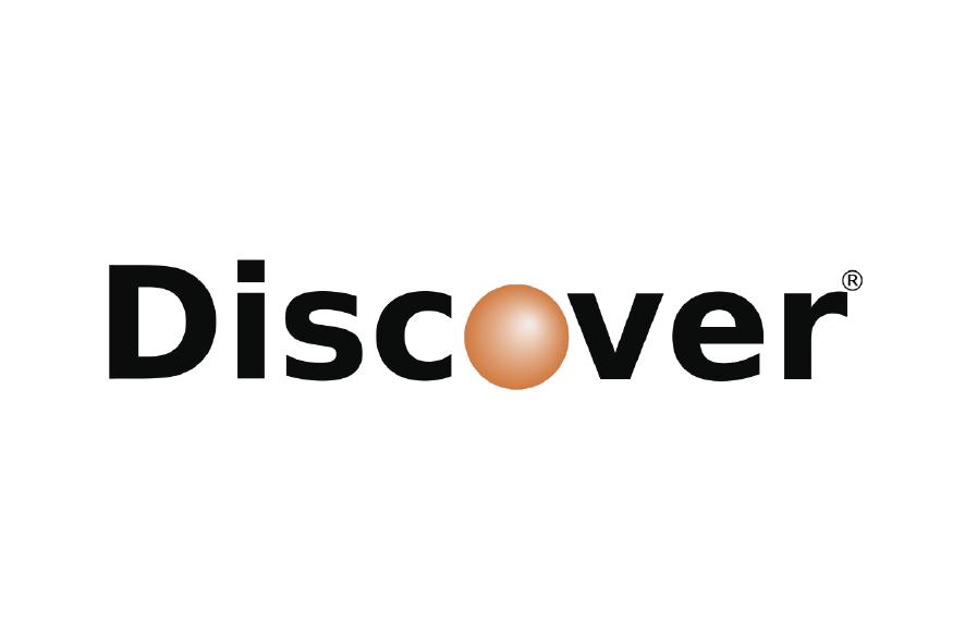 logo tarjeta de crédito discover punto naranja