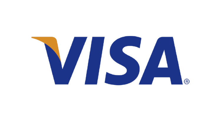logo visa tarjeta de credito letra azul