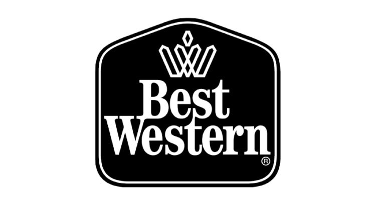 Logo blanco con negro hotel Best Western