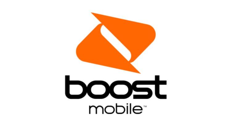 logo boost mobile fondo naranja