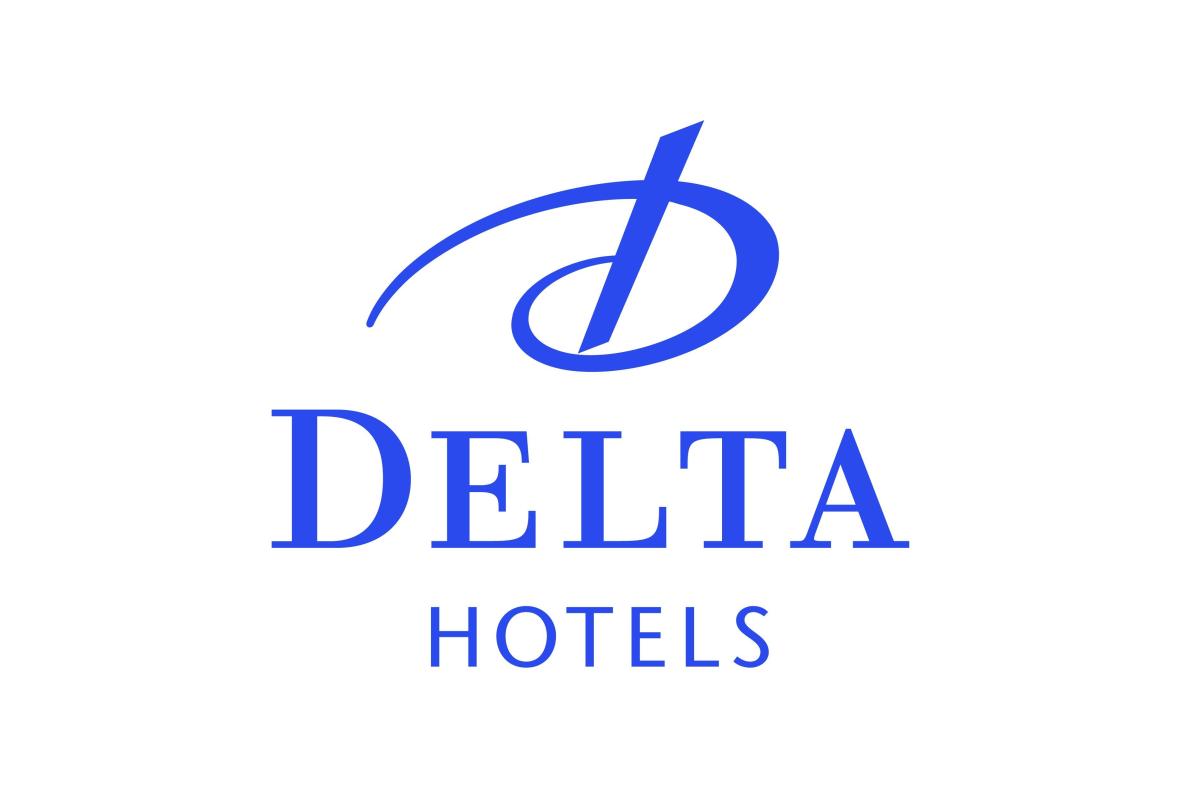 Logo azul hotel Delta
