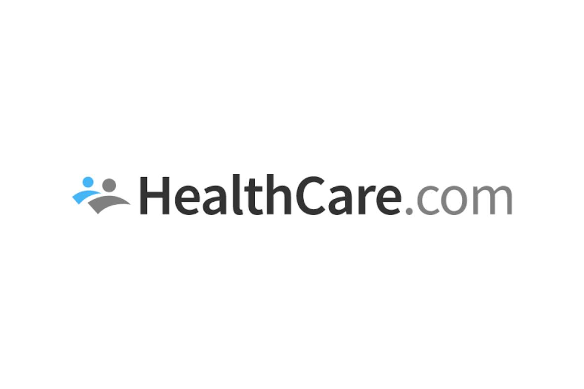 Logo negro, gris y azul gobierno HealthCare.com