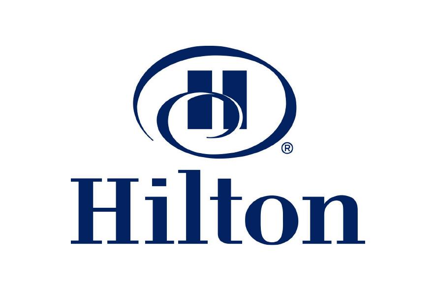 Logo azul hotel Hilton