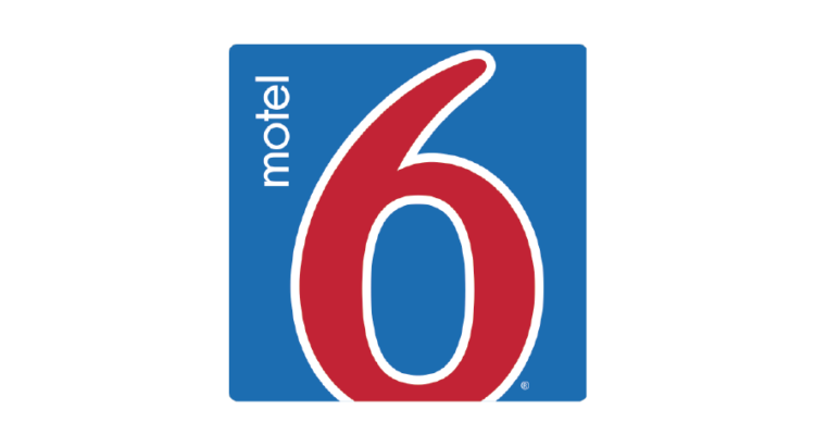 logo azul con rojo Hotel Motel 6