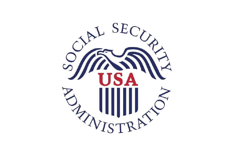 logo azul oscuro con rojo, gobierno seguridad social