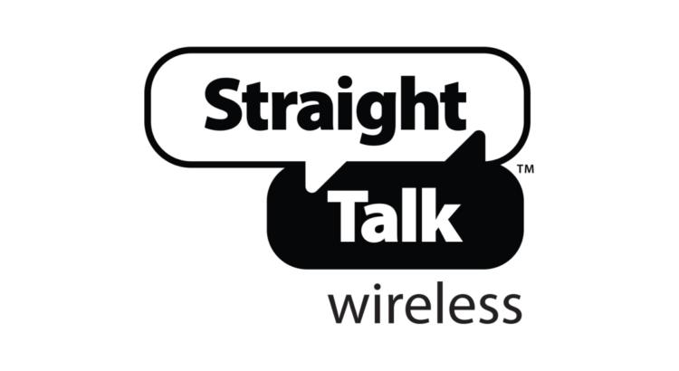 logo straight talk fondo blanco y negro