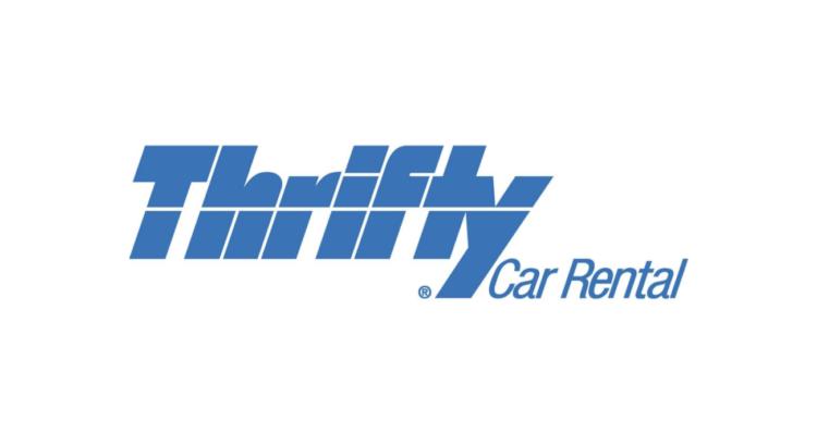 logo alquiler thrifty car rental letras juntas