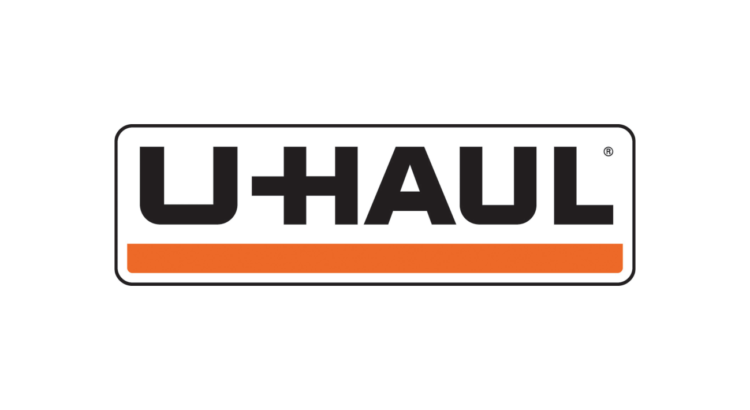 logo alquiler renta U-haul raya naranja