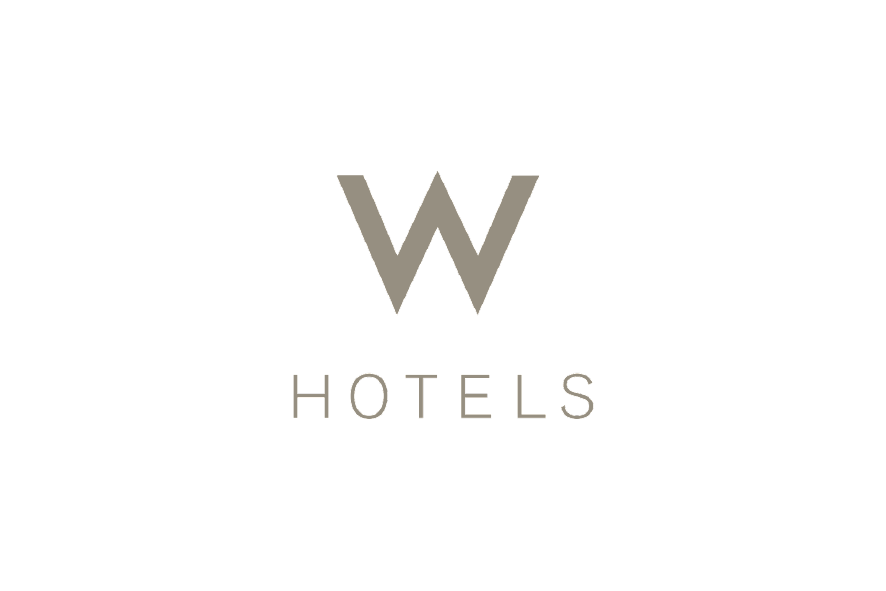 promociones Logo hotel W hotels letras marrones claros